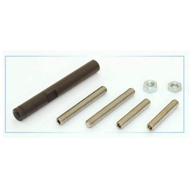 Shifting rod, aluminium, black anodized